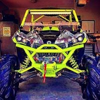 Rage Fab Full Front Bumper Maverick brush gaurd and winch mount